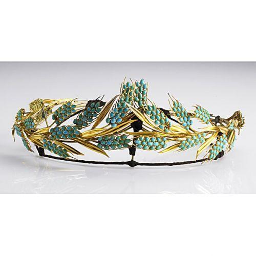 persian turquoise wheat tiara