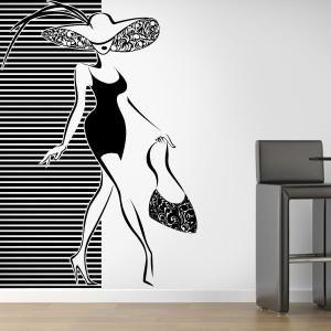 Decorar paredes silueta de mujer siluetas pinterest - Pintar paredes colores de moda ...