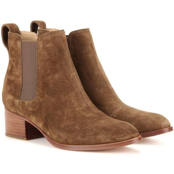 Rag & Bone Walker Suede Ankle Boots ($525) ❤ liked on Polyvore featuring…: