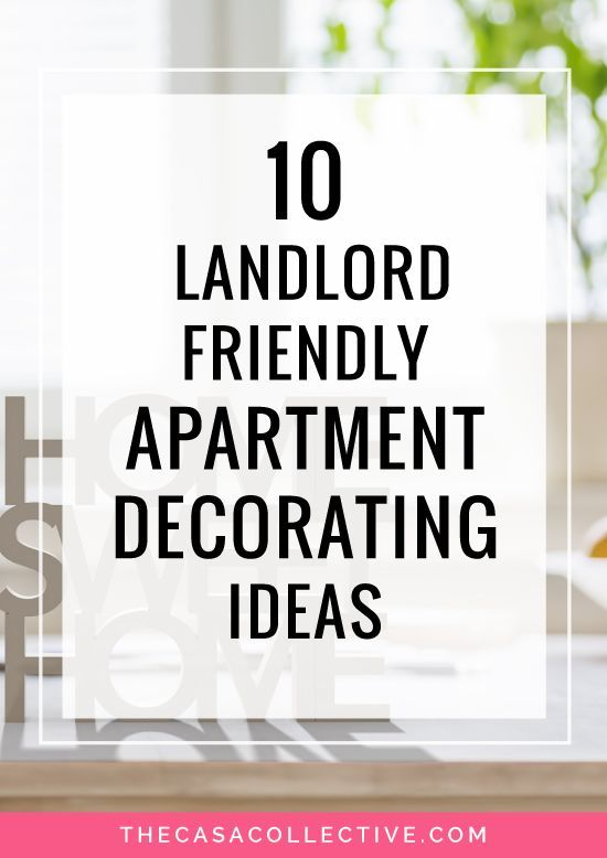 10 Landlord-Friendly Apartment Decorating Ideas | Rental space ...