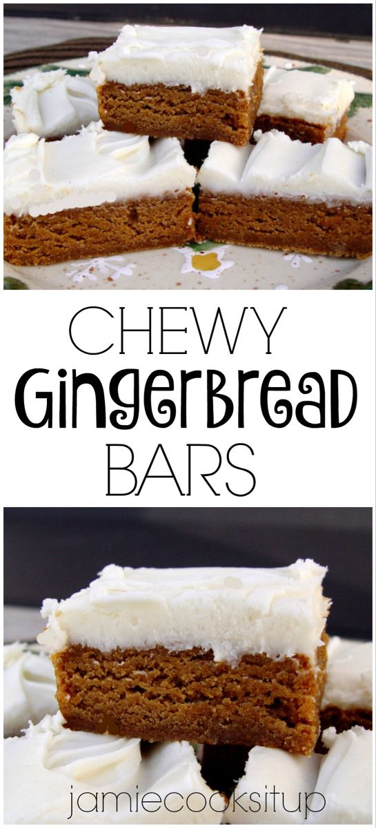 Chewy Gingerbread Bars