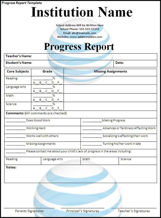 Progress Report Template Download Page Places to Visit - progress sheet template