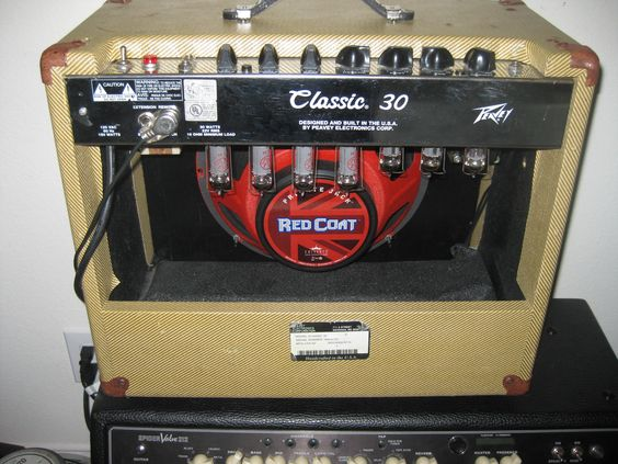 Tried and True Peavey Classic 30 all Tube Amp with Eminence Red