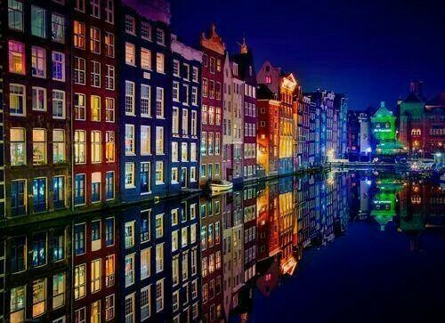 Amsterdam at night. A must see for me!