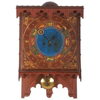 19th Century English Gothic Revival Gilt Mantle Clock In 2020 Clock Mantle Clock Wall Clock