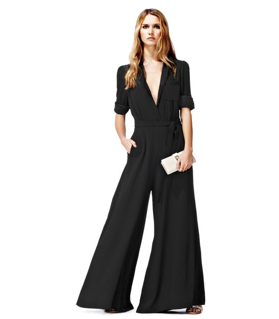 Not sure about wearing a jumpsuit but if I did this is what I would try...