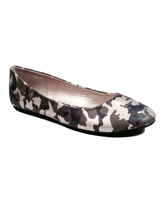Gold Camo Halo Ballet Flat by Dollhouse #zulily #zulilyfinds