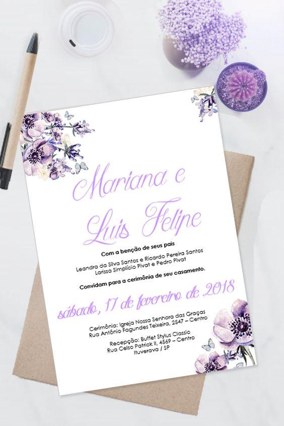 Convite De Casamento Ultravioleta Editavel No Word 0013