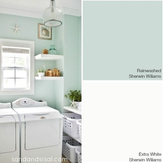 Choosing a Coastal Color Palette - Rainwashed - Sherwin Williams + more coastal paint color combinations.