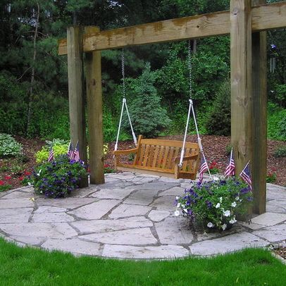 Wooden swing design ideas pictures remodel and decor garden swings pinterest wooden - Wooden garden swing ideas ...