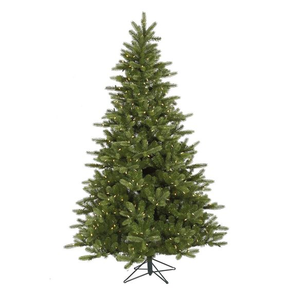 65\u0027 King Spruce Artificial Christmas Tree with 350 LED Warm White