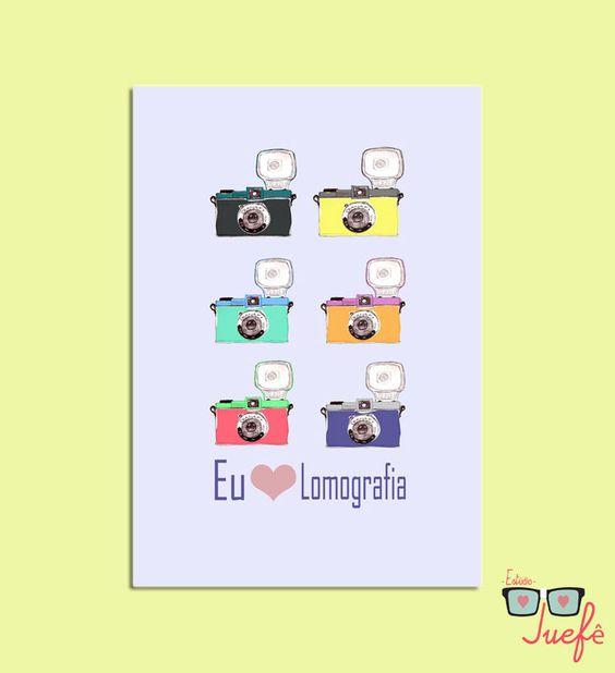Pôster Eu amo lomografia R$30.00