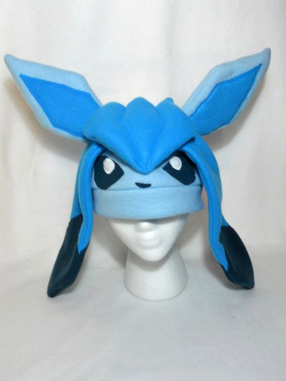 glaceon fleece hat by - photo #4