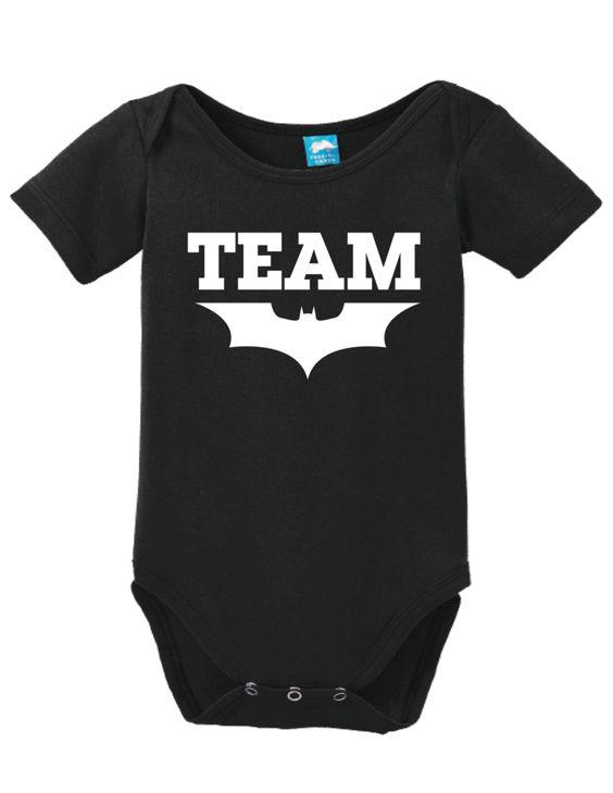Team Batman Onesie Funny Bodysuit Baby Romper