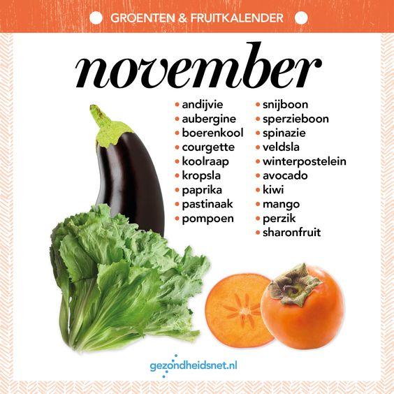 Groenten- en fruitkalender november