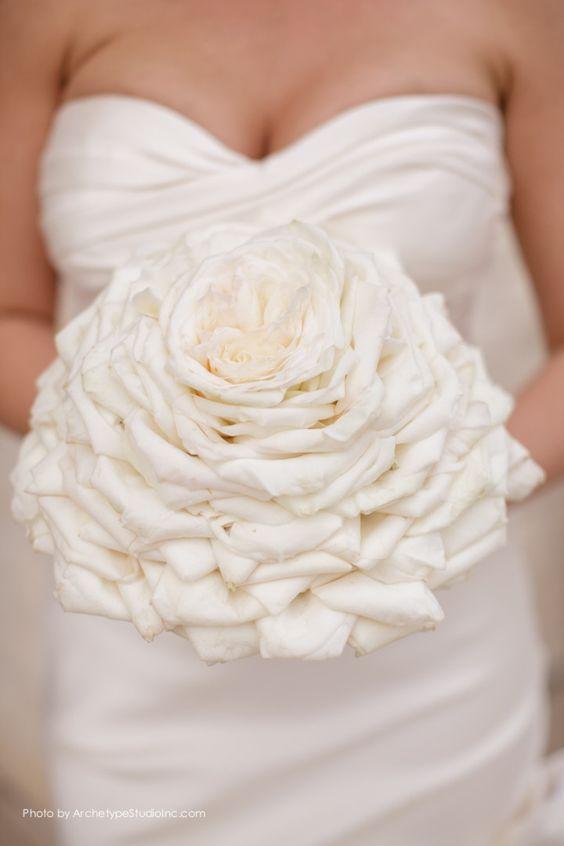 Beyond Stunning Texas Wedding from Archetype Studios - white bridal bouquet