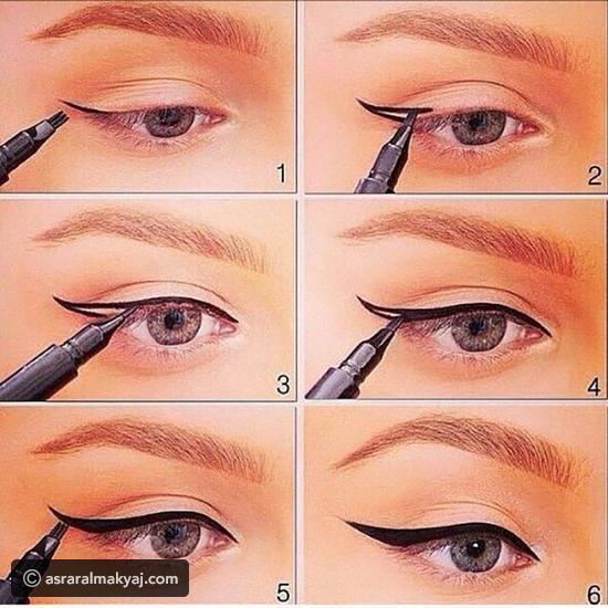 طريقة وضع الاي لاينر للمبتدئين Perfect Winged Eyeliner Winged Eyeliner Eyeliner For Beginners