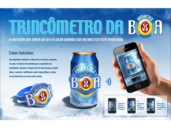 Cerveja Antarctica   Trincômetro da Boa