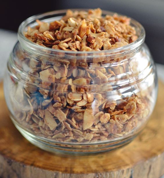 Coconut Pecan Granola! Oatmeal, shredded coconut, pecans, coconut ...