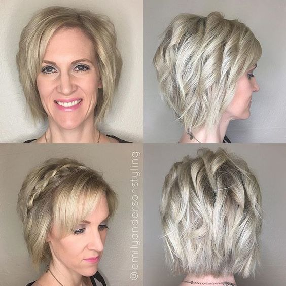 Full head of blonde babylights blended with her natural color. #modernsalon #americansalon #behindthechair #nothingbutpixies #emilyandersonstyling
