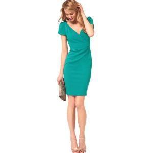Bqueen Tailored Pencil Dress Green K436G - Bqueen women shoes, Bqueen designer dresses on sale