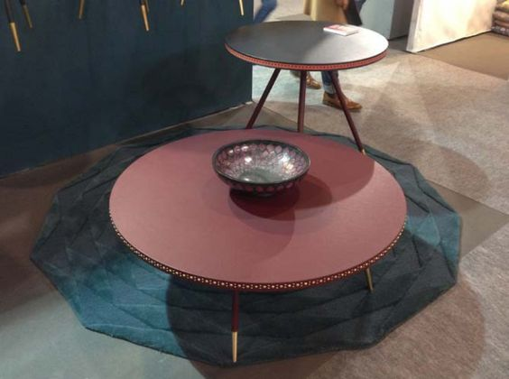 Table Basse Cuir Rouge Bethan Gray