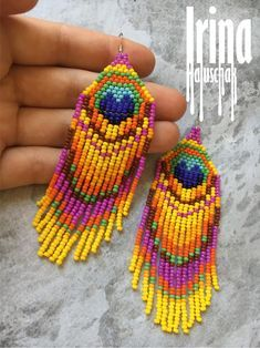 orange beads orange earrings sun and moon earrings yellow beads Sun and moon yellow earrings silver earrings