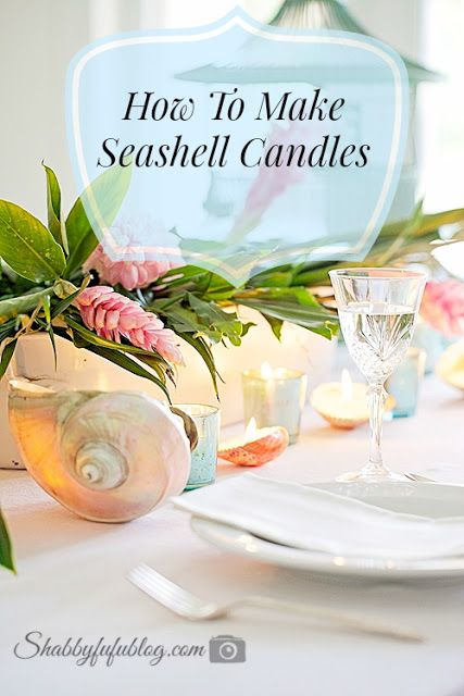 Simple Summer Table With A Seashell Candle DIY