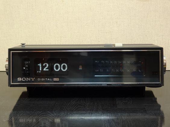 狂乱Nonaha日記: 世界初デジタルクロックラジオ SONY 8FC-59 パタパタ時計