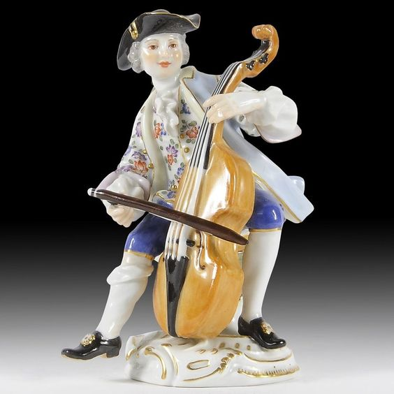 meissen porzellan figuren cellist aus der galanten kapelle porzellan figuren pinterest. Black Bedroom Furniture Sets. Home Design Ideas