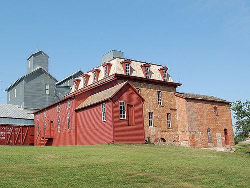 Neligh Flour Mill in Neligh, Nebraska - photo by Nebraska farm Boy.: