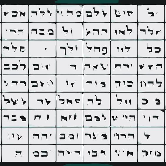 72 names of God concealed by lost in tracing detail #svg #kabbalah #zohar #vectorart by rafszul
