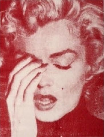 Russell Young, Marilyn Crying (Red)