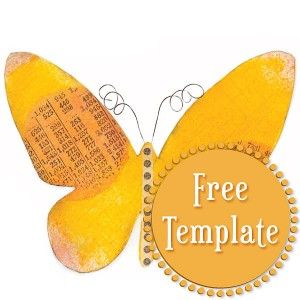 Butterfly Template  Lotions    Butterfly Template