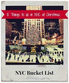 NYC Christmas Bucket List- can't wait! Thanks @Amanda Melton