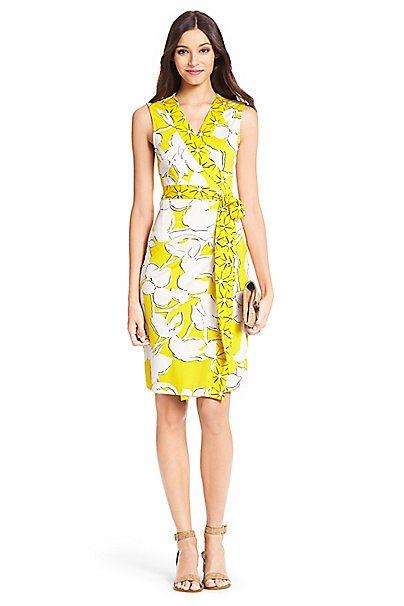 DVF New Yahzi Short Silk Jersey Wrap Dress - The Wrap - Pinterest ...