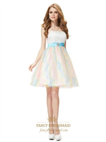 Short White Sparkly Cocktail DressesColourful Cocktail Dress For ...