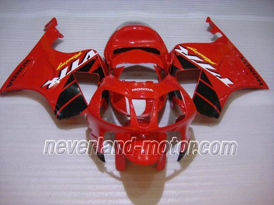 Carenado de ABS de Honda VTR1000 RC51 2000-2006 - Rojo/Negro