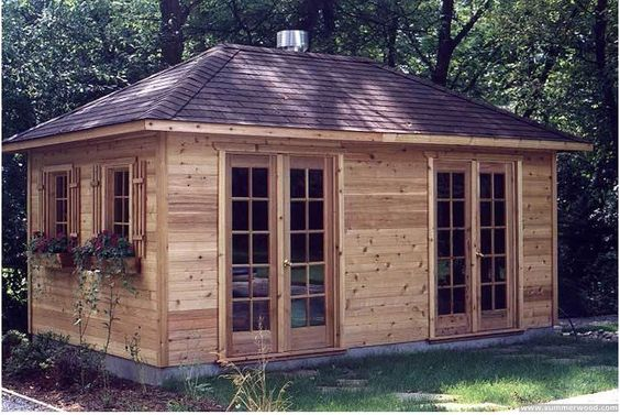 10 X 20 Cabin Backyard Cabin Backyard Pool Shed