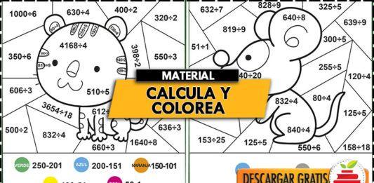 Calcula Y Colorea Operaciones Basicas Colores Abecedario Para Imprimir Materiales De Dibujo