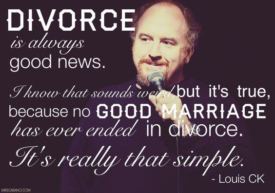 Louis CK on divorce: