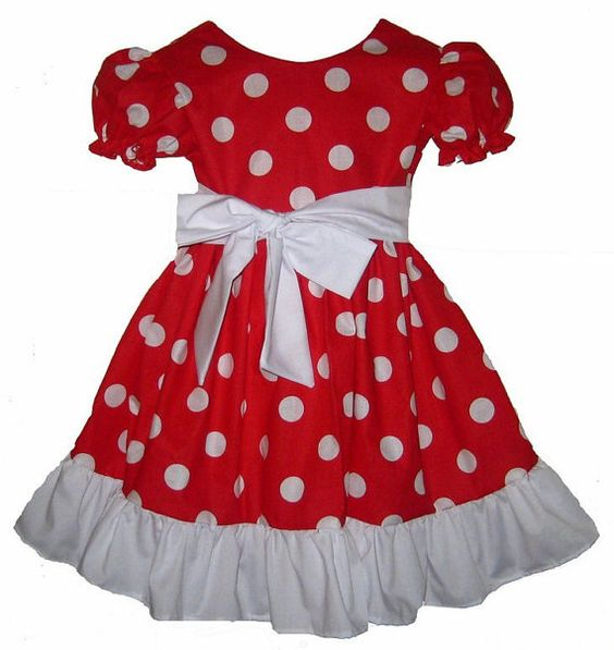 Costume dress- Mice and Red and white on Pinterest