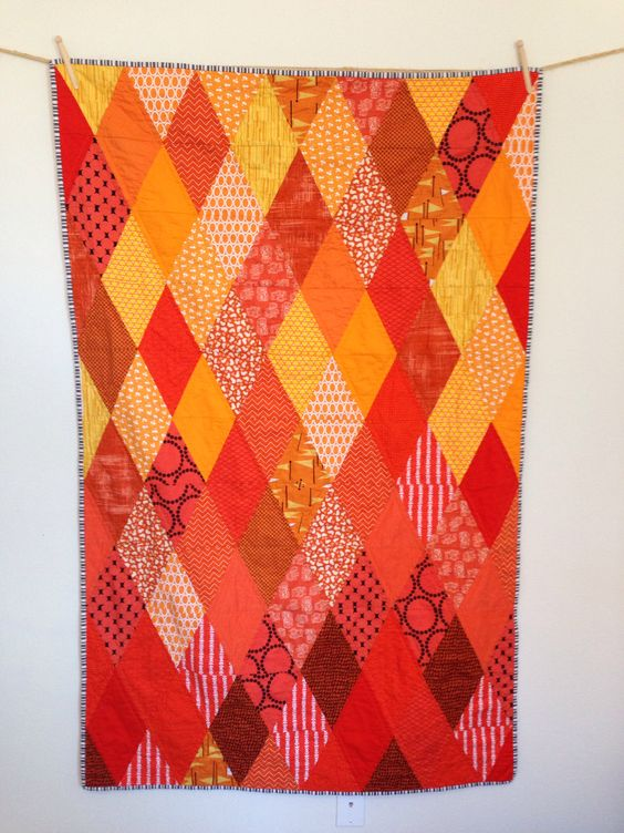 Orange diamond quilt