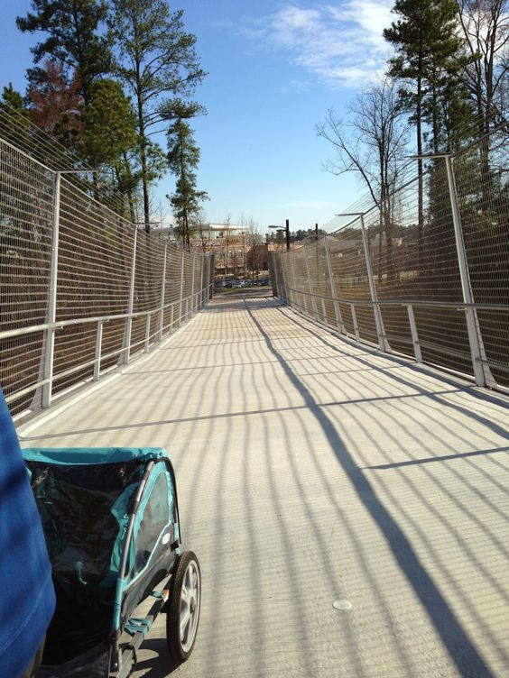 The Stir Crazy Moms' Guide to Durham: The I-40 Bridge over the American Tobacco Trail