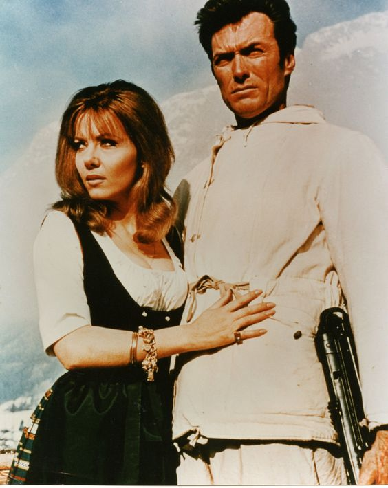 Ingrid Pitt with Clint Eastwood in Where Eagles Dare (1969).