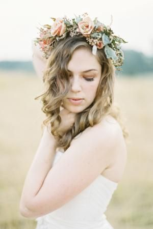 Rustic Floral Crown - Laura Gordon Photography