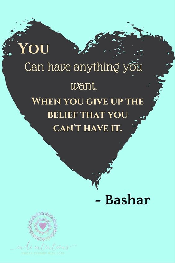 Words of wisdom on manifestation and the law of attraction from Bashar. www.indiintentions.etsy.com: