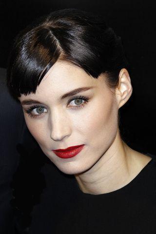 Rooney Mara's, red lip perfection.