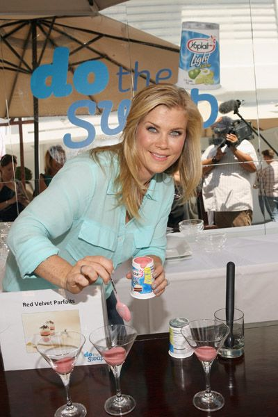 Alison Sweeney shares diet tips at Yoplait Light Swap Event