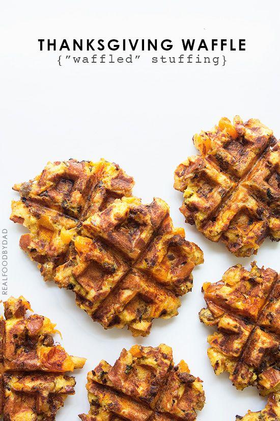 Turkey and Waffles. Thanksgiving leftovers...stuffing waffle sandwiches. Yummy!